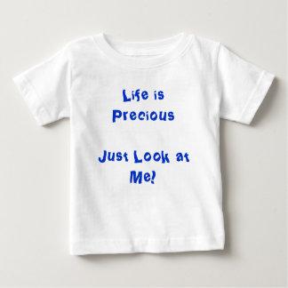 妊娠中絶反対のワイシャツの~の生命は大切です ベビーTシャツ