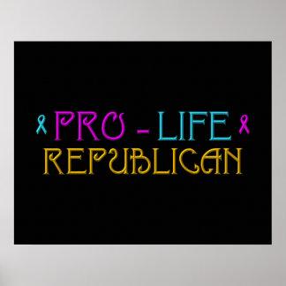 妊娠中絶反対の共和党員 ポスター