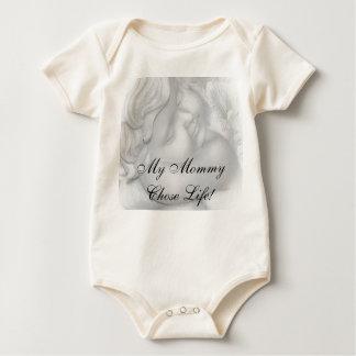 妊娠中絶反対の天使のベビーのワイシャツ ベビーボディスーツ