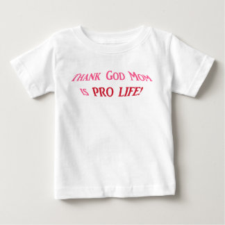 妊娠中絶反対の幼児ワイシャツ ベビーTシャツ