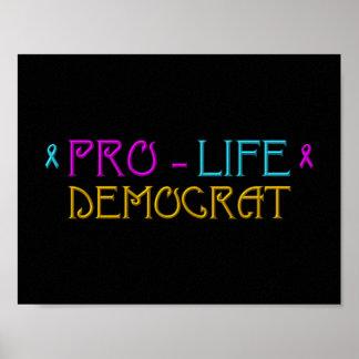 妊娠中絶反対の民主党員 ポスター