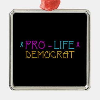妊娠中絶反対の民主党員 メタルオーナメント
