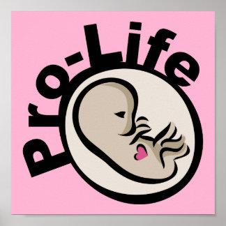 妊娠中絶反対の胎児のデザイン ポスター