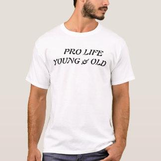 妊娠中絶反対の若く及び古い Tシャツ