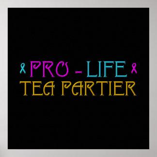 妊娠中絶反対の茶Partier ポスター