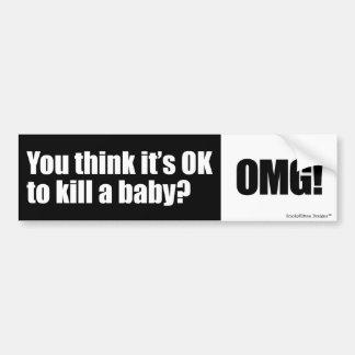 妊娠中絶反対の質問 バンパーステッカー