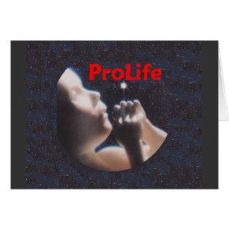 妊娠中絶反対やがて生まれる生命をあります大切なカードが保護して下さい カード