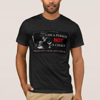 妊娠中絶反対ハートをストップ1つを持って下さい Tシャツ