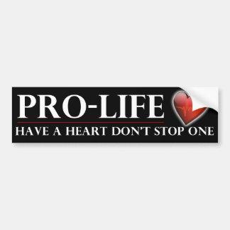 妊娠中絶反対ハートをストップ1豊富なStickrを持って下さい バンパーステッカー
