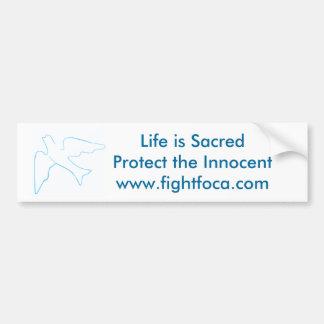 妊娠中絶反対戦いFOCA バンパーステッカー