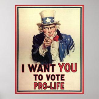 妊娠中絶反対投票 ポスター