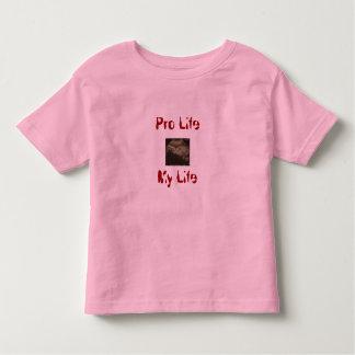 妊娠中絶反対私の生命はです トドラーTシャツ
