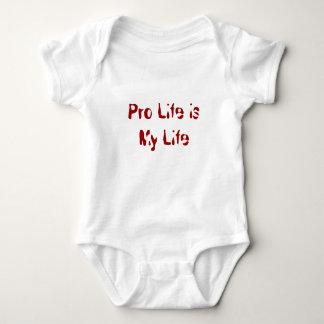 妊娠中絶反対私の生命はです ベビーボディスーツ