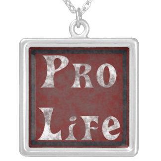 妊娠中絶反対 シルバープレートネックレス