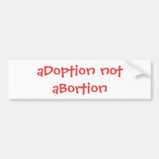 妊娠中絶反対 バンパーステッカー