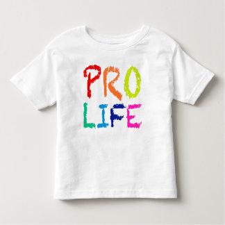 """""""妊娠中絶反対"""" (虹のクレヨンで) トドラーTシャツ"""