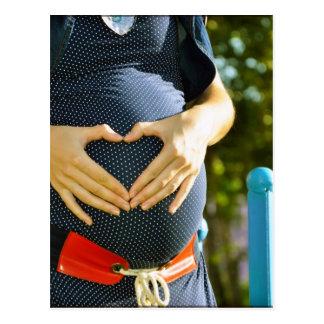 妊婦のおなか ポストカード