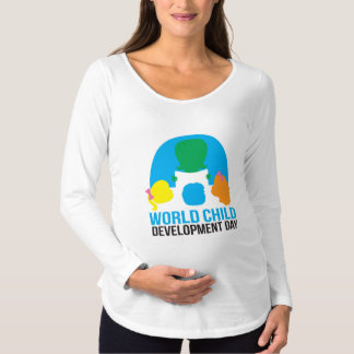 妊婦ので長い袖のTシャツ マタニティTシャツ