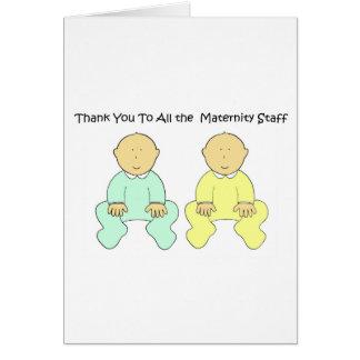 妊婦のなスタッフにありがとう カード