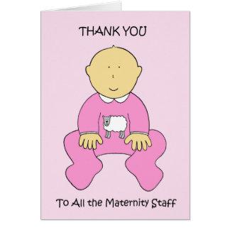 妊婦のなスタッフのおかげで カード