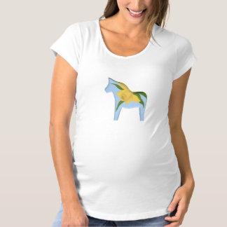 妊婦のなラッパスイセンのDalaの馬のTシャツ マタニティTシャツ
