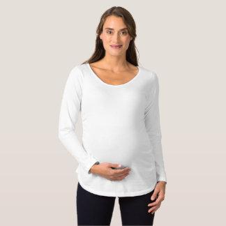 妊婦のな長袖のTシャツ マタニティTシャツ