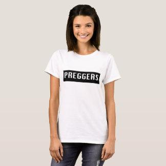 妊婦のなpreggersスローガンのティー tシャツ