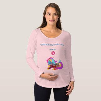 妊婦のなTシャツの中のUNIQUEORNのユニコーンのベビー マタニティTシャツ