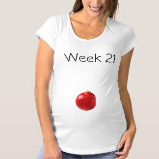 妊婦のなTシャツ21週 マタニティTシャツ