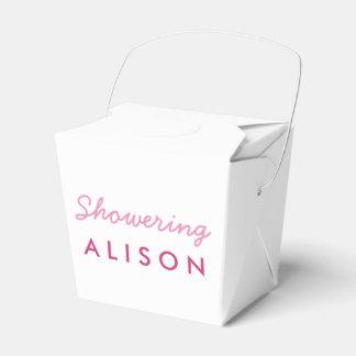 妊婦のテントの好意箱のピンクの白に沢山与えること フェイバーボックス