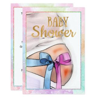 妊婦のベビーシャワーの招待状 カード