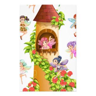 妖精およびタワー 便箋
