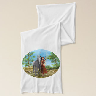 妖精およびユニコーン スカーフ