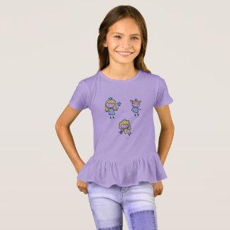 妖精が付いているラベンダーの紫色のTシャツ Tシャツ