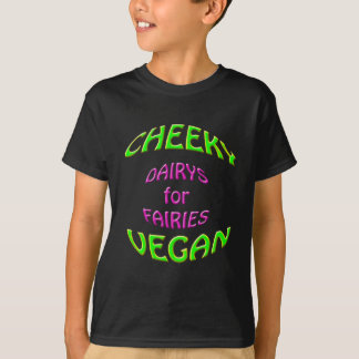 妖精のための生意気なビーガンのdairys tシャツ