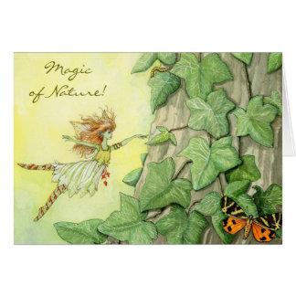 妖精のキヅタのメッセージカード ノートカード