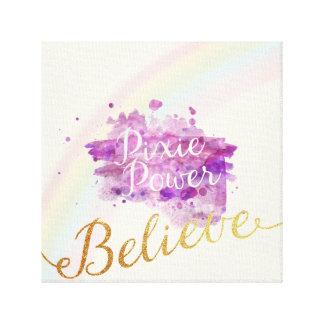 妖精のキャンバスの力で信じて下さい キャンバスプリント