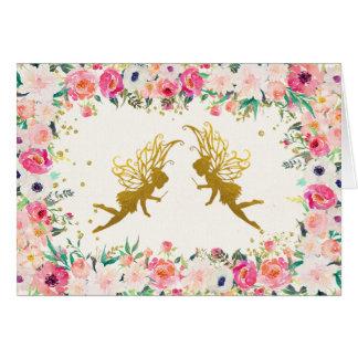 妖精のサンキューカード ノートカード
