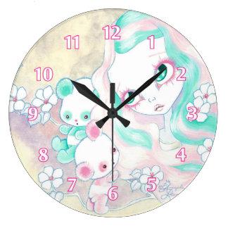 妖精のパンダくま ラージ壁時計