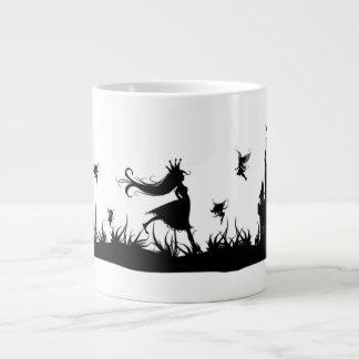 妖精のプリンセスおよび城のマグ ジャンボコーヒーマグカップ