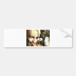 妖精のプロフィールのジグソーパズル バンパーステッカー