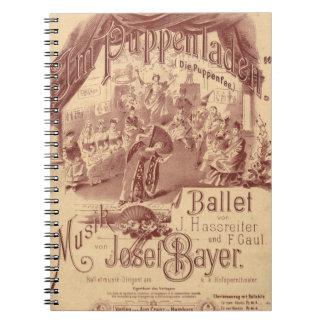 妖精の人形のバレエ ノートブック