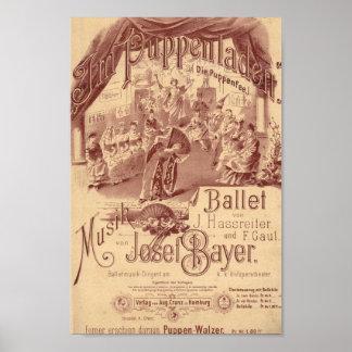 妖精の人形のバレエ ポスター