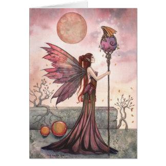 妖精の国およびドラゴンのファンタジーの芸術カード グリーティングカード