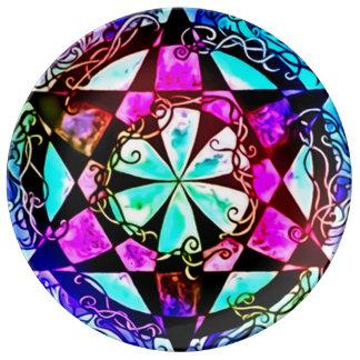 妖精の国の視力の曼荼羅 磁器プレート