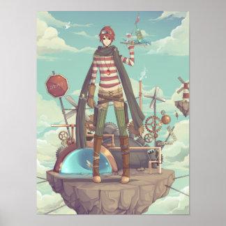 妖精の国上の男の子 ポスター