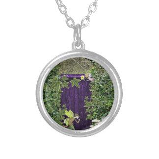 妖精の妖精の秘密庭のネックレス シルバープレートネックレス