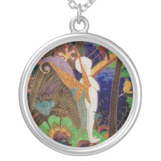 妖精の妖精のWedgwoodのFairylandの光沢の芸術陶器 シルバープレートネックレス