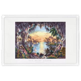 妖精の小洞窟の皿 アクリルトレー