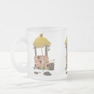 妖精の尾健康な希望の井戸 フロストグラスマグカップ